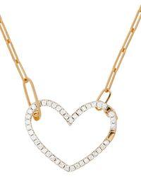 Yvonne Léon Gold Coeur Diamond Necklace - Multicolour