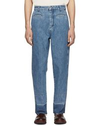 Loewe - Blue Fisherman Jeans - Lyst
