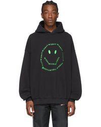 MISBHV A Smiley Logo Hoodie - Black