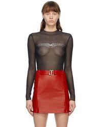 MISBHV Black Crystal Bodysuit