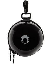 Marine Serre ブラック ミニ Ball Bag キーチェーン