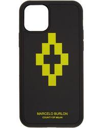 Marcelo Burlon ブラック And ライム 3d クロス Iphone 11 Pro ケース
