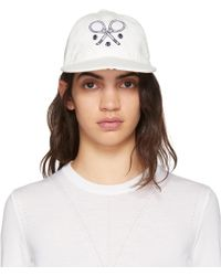 Thom Browne | White Tennis Racket Icon Five-panel Baseball Cap | Lyst