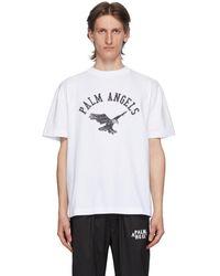 Palm Angels ホワイト College Eagle T シャツ