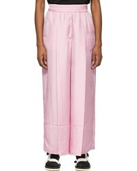 SJYP Wide Leg Lounge Trousers - Pink