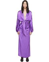 Materiel Tbilisi パープル フロント タイ ドレス