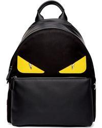 Fendi Black And Yellow Bag Bugs Backpack