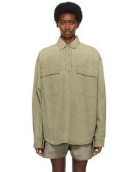 Fear Of God Khaki Canvas Military Pullover Jacket - Green