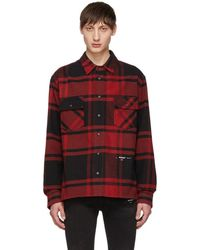 Off-White c/o Virgil Abloh - Embellished Checked Cotton-blend Flannel Shirt - Lyst