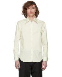 Maison Margiela - Off-white And White Decortique Back Shirt - Lyst