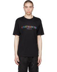MASTERMIND WORLD Black & Multicolor Logo T-shirt