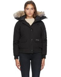 Canada Goose Black Down Chilliwack Bomber Jacket