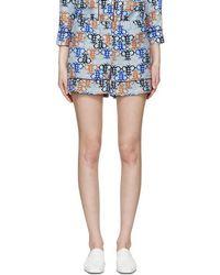 Emilio Pucci | Blue Monogram Pyjama Shorts | Lyst