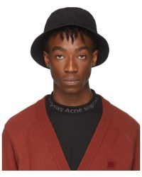 Acne Studios Black Buk Face Bucket Hat