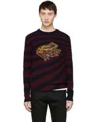 Paul Smith - Burgundy And Navy Wool Frog Jumper - Lyst