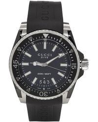 Gucci - Black Rubber Xl Dive Watch - Lyst