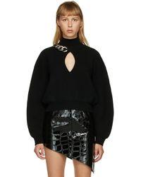 Alexander Wang ブラック チェーンリンク キーホール セーター