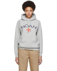 Noah Grey Logo Hoodie