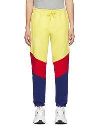 Aimé Leon Dore Yellow Colorblocked Logo Lounge Pants