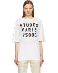 Etudes Studio ホワイト Museum Stencil T シャツ