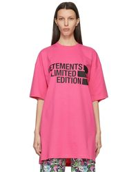 Vetements - ピンク Limited Edition Big ロゴ T シャツ - Lyst