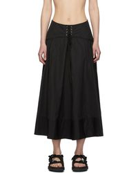 3.1 Phillip Lim Black Poplin Corset Skirt