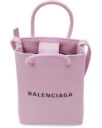 Balenciaga - パープル Shopping フォン ホルダー バッグ - Lyst
