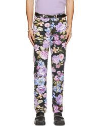 Martine Rose Black & Multicolour Floral Ronnie Jeans