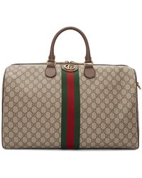 Gucci Men's Soft GG Supreme Carry-on Duffel Bag - Natural