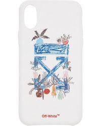 Off-White c/o Virgil Abloh Etui pour iPhone X blanc Arrows