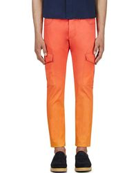 Katie Eary - Orange Sunset Twill Cargo Trousers - Lyst
