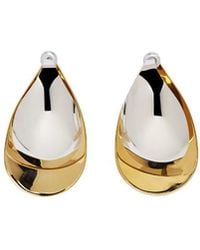 Charlotte Chesnais - Gold And Silver Large Petal Earrings - Lyst