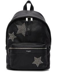 Saint Laurent - Black Star Studded Mini City Backpack - Lyst