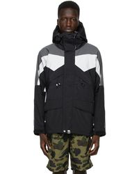A Bathing Ape Black Colorblocked Classic Snowboard Jacket