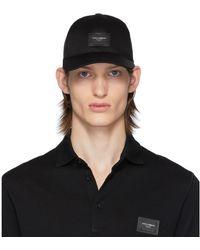 Dolce & Gabbana Casquette de base-ball noire Essential