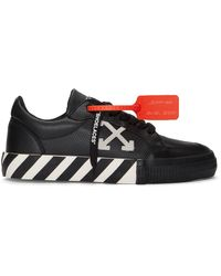 Off-White c/o Virgil Abloh Vulc Striped Low-top Canvas Sneakers - Black