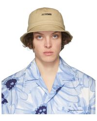 Jacquemus Beige Le Bob Gadjo Bucket Hat - Natural