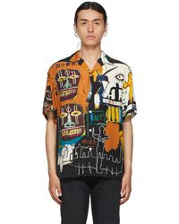Wacko Maria Jean-michel Basquiat エディション マルチカラー Guilty Parties ショート スリーブ シャツ - ブルー