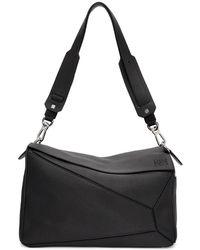 Loewe - Black Xl Puzzle Bag - Lyst