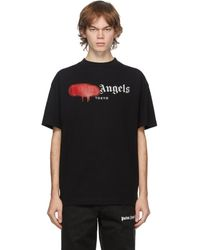 Palm Angels T-shirt noir Tokyo Logo Sprayed