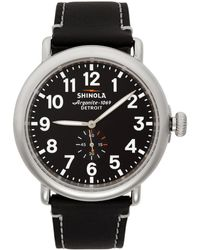 Shinola シルバー And ブラック The Runwell 47mm ウォッチ
