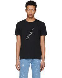 Givenchy | Black Lightning World Tour T-shirt | Lyst