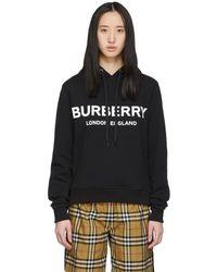 Burberry ブラック ロゴ フーディ