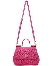 Dolce & Gabbana ピンク ミディアム Sicily バッグ