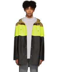 Stutterheim Yellow And Multicolor Stockholm Raincoat