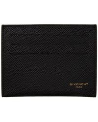 Givenchy Black Calfskin 3cc Card Holder