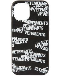 Vetements ブラック Iphone 12 Pro Max ロゴ ケース