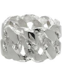 Pearls Before Swine Silver Xl Link Ring - Metallic