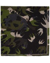McQ - Multicolour Swallow Swarm Scarf - Lyst