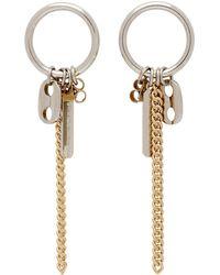 Justine Clenquet Silver Rita Drop Earrings - Metallic